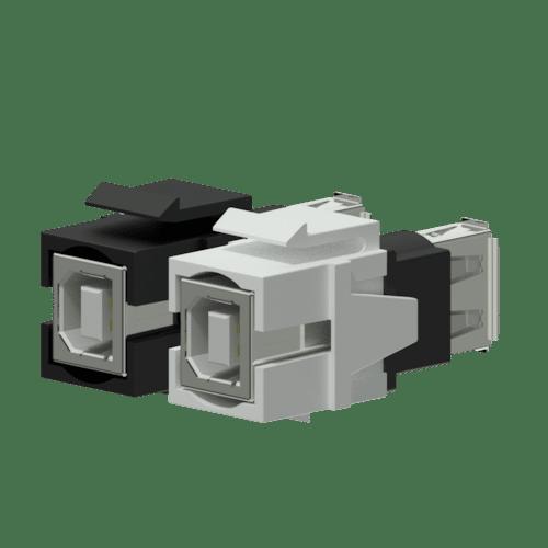 VCK620 - Keystone adapter - USB 2.0 A - USB 2.0 B - reversible