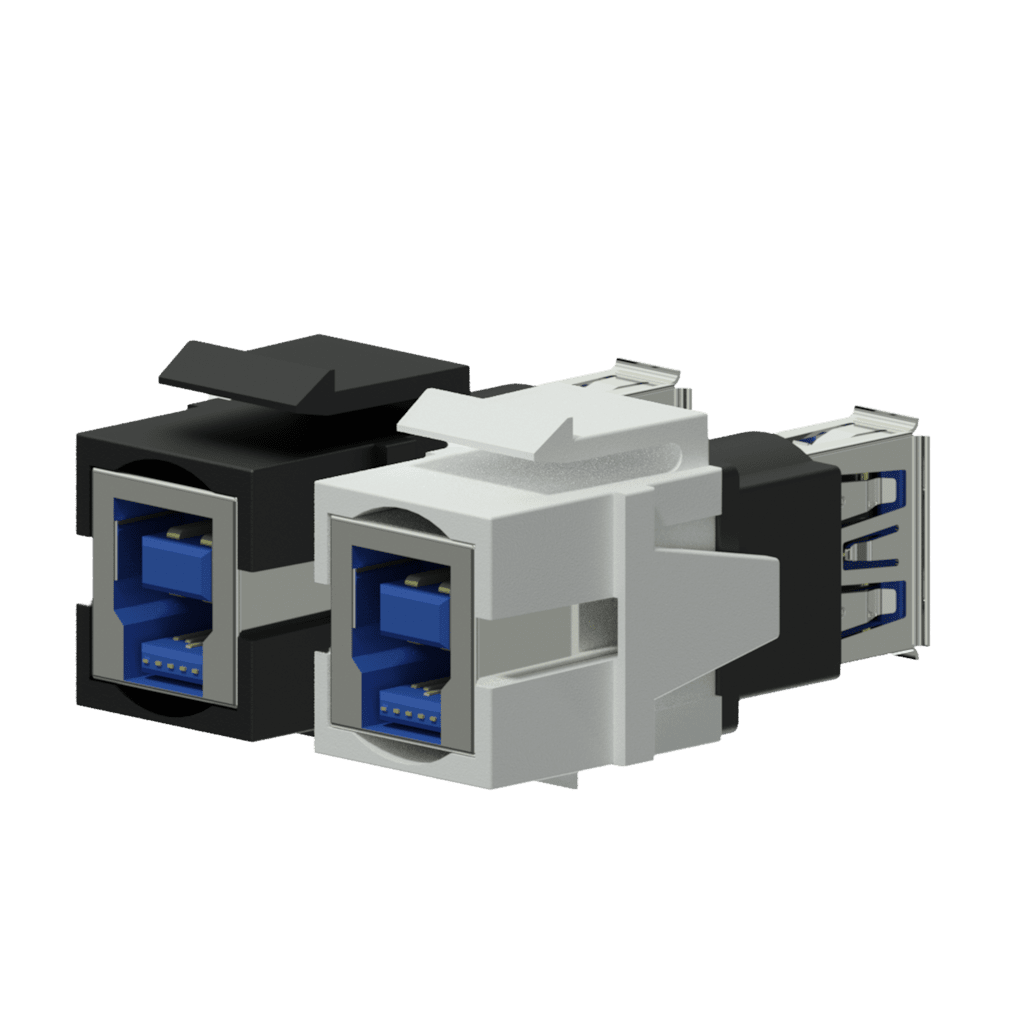 Keystone adapter - USB 3.0 A - USB 3.0 B - reversible
