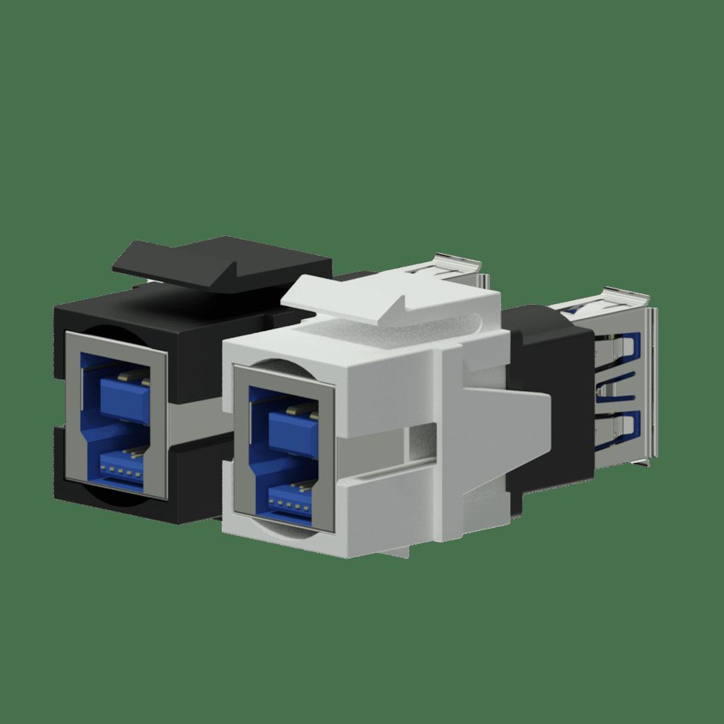 VCK630 - Keystone adapter - USB 3.0 A - USB 3.0 B - reversible