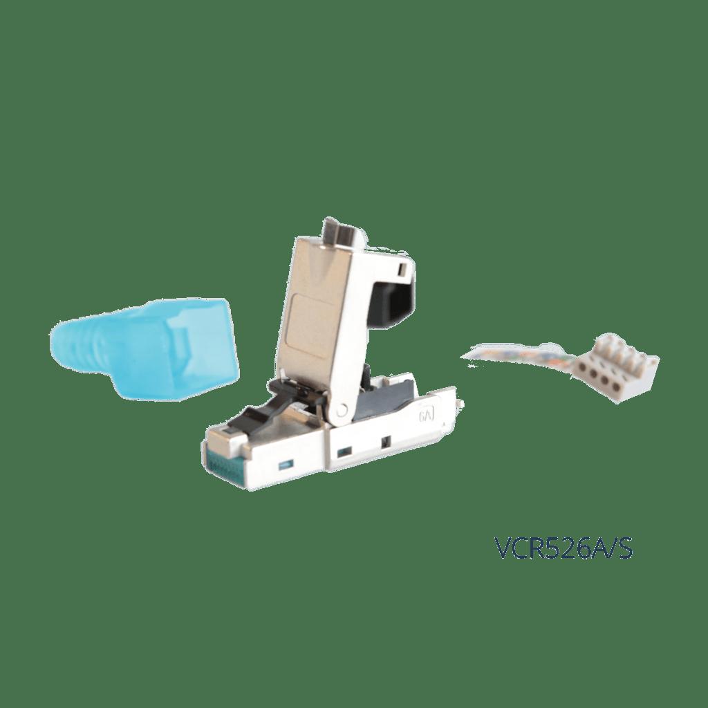 VCR526A - CAT6A toolless RJ45 modular plug