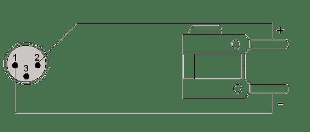Wiring diagram CAB304 - loudspeaker cable - XLR male - banana