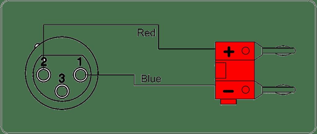 Wiring diagram CAB305 - Loudspeaker cable - XLR female - banana