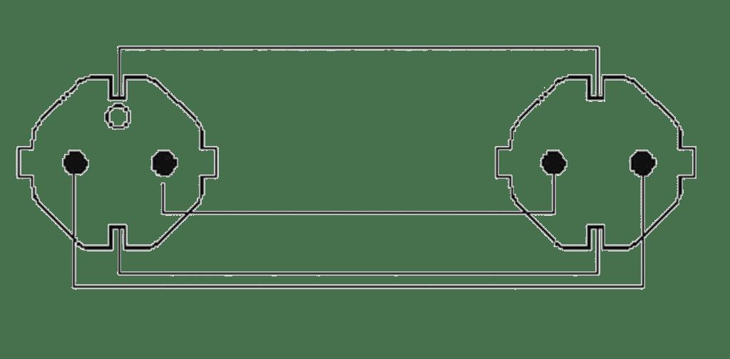 Wiring diagram CAB465-G - Power cable - schuko male - schuko female - German - 3 x 2.5 mm²