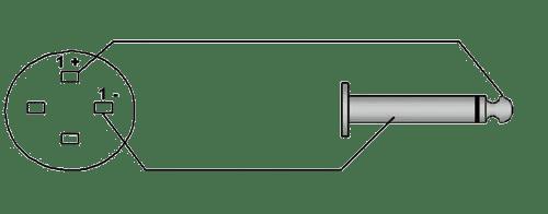 Wiring diagram CAB592 - Loudspeaker cable - speaker female - 6.3 mm Jack male