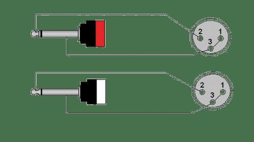 cab707 2 x xlr female 2 x 6 3 mm jack male mono 4 pin xlr microphone wiring diagram wiring diagram cab707 2 x xlr female 2 x 6 3 mm jack male mono