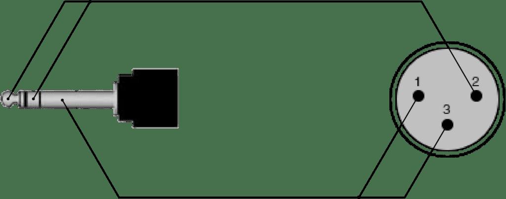 cab714 xlr male 3 5 mm jack male stereo rh procab be 4 Pin XLR Wiring-Diagram Balanced XLR Wiring-Diagram