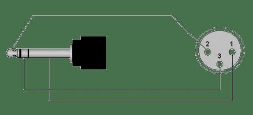 Wiring diagram REF723 - XLR female - 6.3 mm Jack male stereo