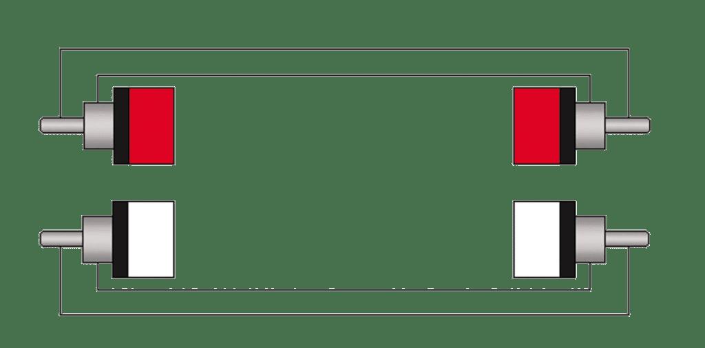 Wiring diagram CLA800 - 2 x RCA/Cinch male - 2x RCA/Cinch male