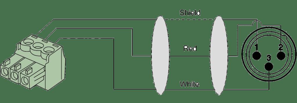 cla834 2 x xlr male 2 x terminal block 3p 3 81mm rh procab be Visio Diagram Symbols Visio Electrical Diagram