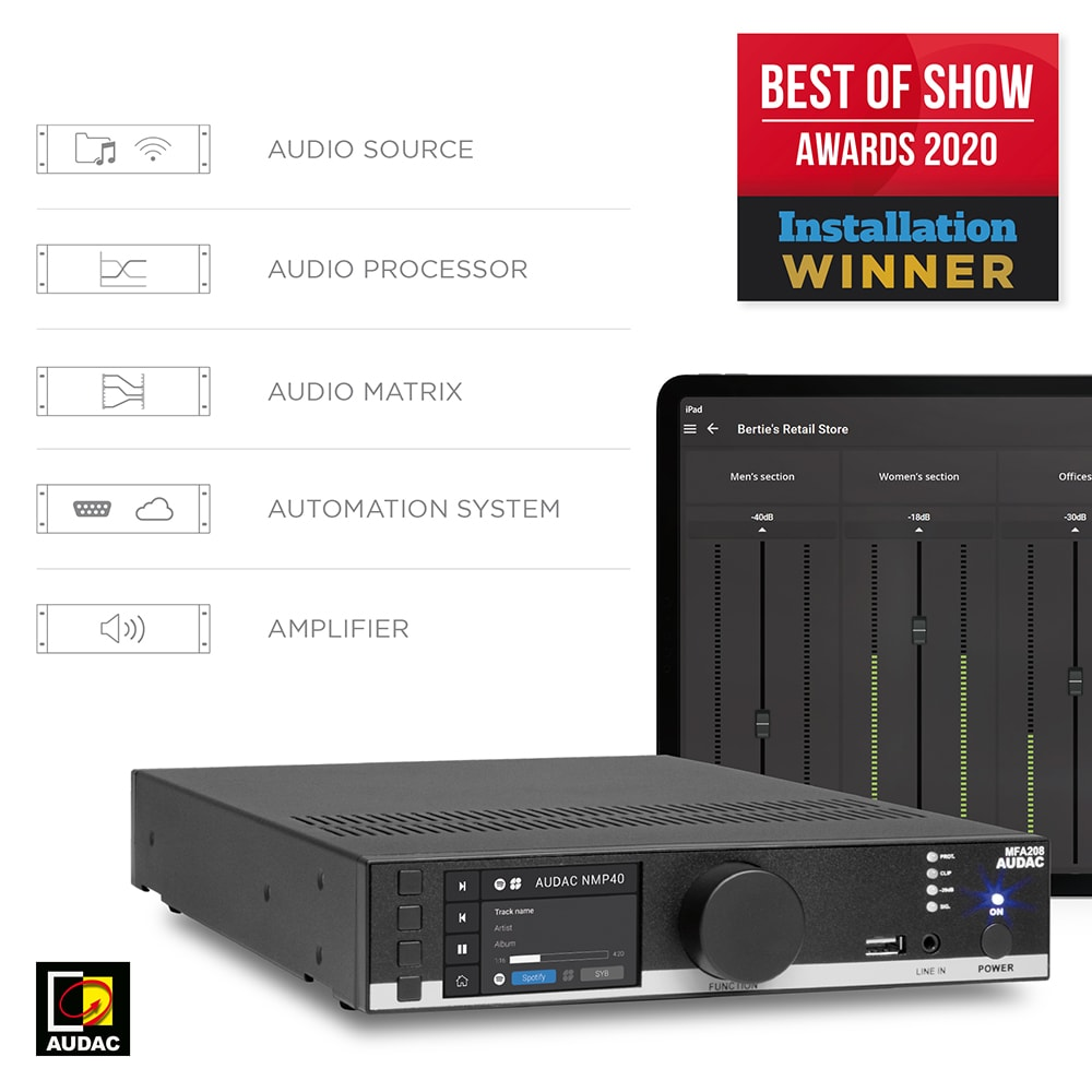 AUDAC MFA series won the Best of show award 2020 - AUDAC News