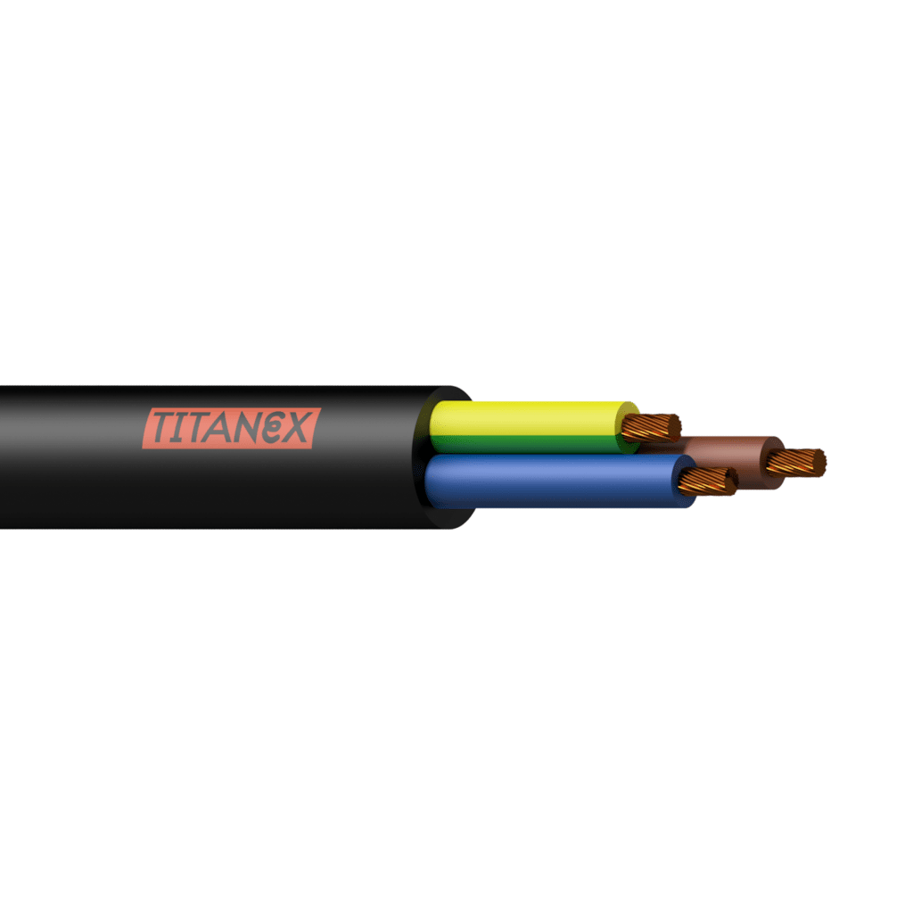 TTX-3G2.5 - Power cable TITANEX - H07RN-F 3G2.5 - 3 x 2.5 mm² - 13 AWG