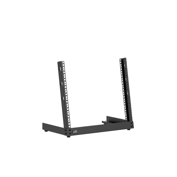 Open frame desktop rack