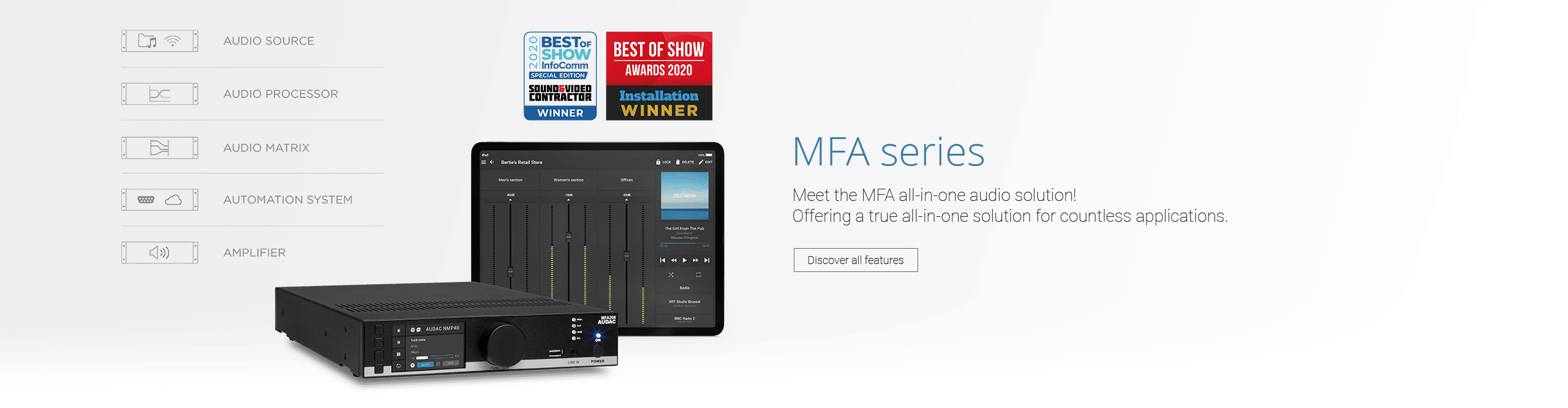 AUDAC - All-in-one audio solution - MFA series