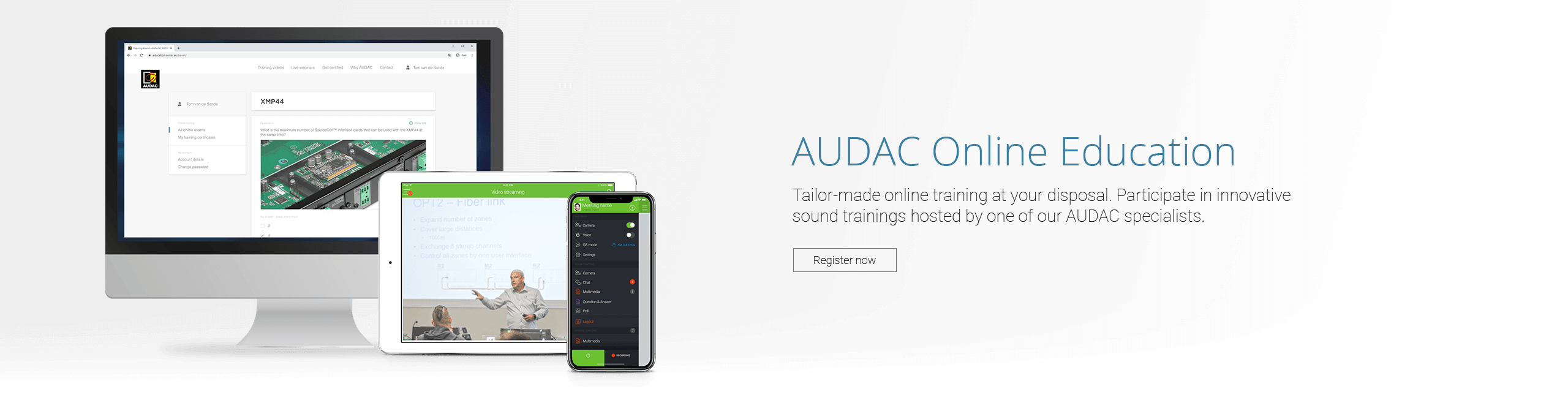 AUDAC - Educational platform - Register now