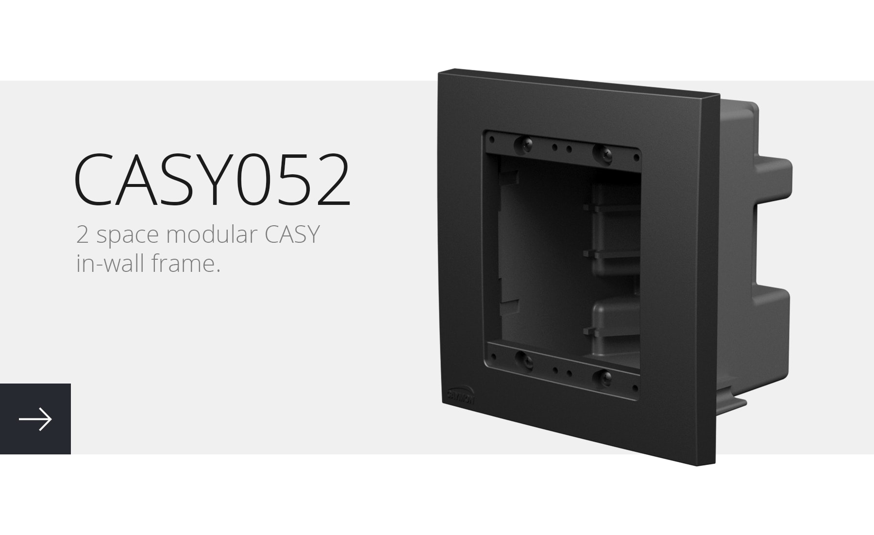 2 space modular CASY in-wall frame